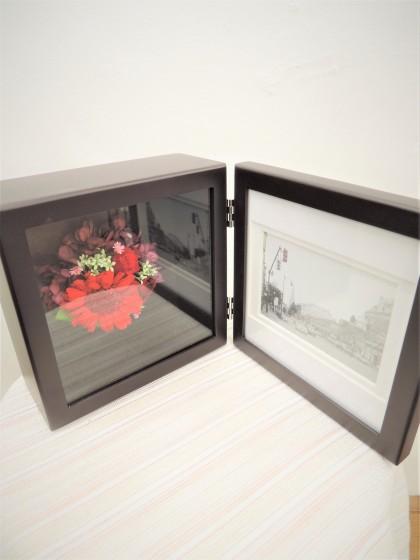 写真立てフォトフレームプリザーブドフラワー(赤系)のイメージ2
