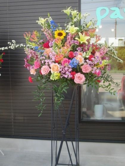 開店祝スクエアスタンド花(屋外用)ST-05のイメージ