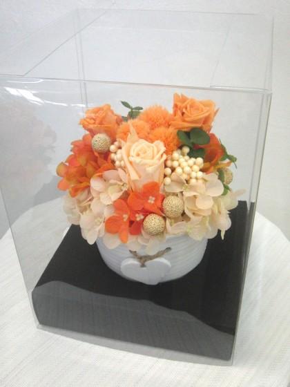 オレンジ系プリザーブドアレンジのイメージ2