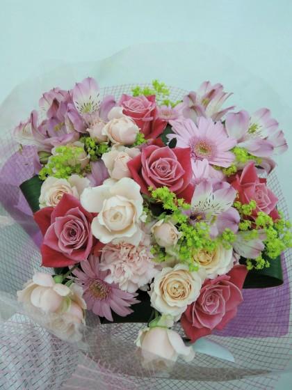 ピンク系ブーケ風花束 HA-42のイメージ