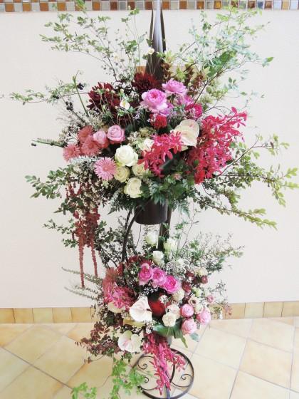 おしゃれなスペシャルお祝いスタンド花 ST-24のイメージ