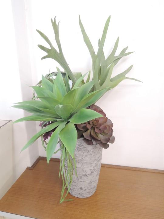多肉植物(アートフラワー)の寄せ植え② AT-81のイメージ